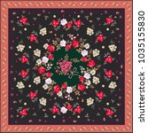 silk scarf with bunches of... | Shutterstock .eps vector #1035155830