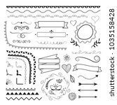 set of vector decorative... | Shutterstock .eps vector #1035158428