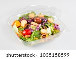 take away bowl with fast food... | Shutterstock . vector #1035158599