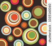 geometric pattern with circles  ... | Shutterstock .eps vector #1035160060