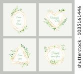 wedding invitation floral... | Shutterstock .eps vector #1035161446