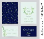 wedding invitation floral... | Shutterstock .eps vector #1035161689