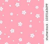 sakura flower seamless pattern... | Shutterstock .eps vector #1035163699