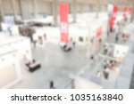 view of a trade show location.... | Shutterstock . vector #1035163840