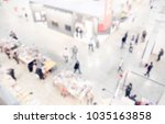 view of a trade show location.... | Shutterstock . vector #1035163858