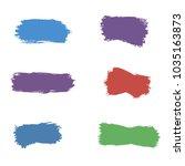 paint brush spots  highlighter... | Shutterstock .eps vector #1035163873