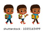 vector set of cute boy... | Shutterstock .eps vector #1035165499