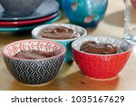 close up of cups with a dark... | Shutterstock . vector #1035167629