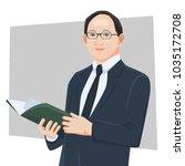 businessman real cartoon... | Shutterstock .eps vector #1035172708