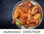 traditional spatchcocked... | Shutterstock . vector #1035174229