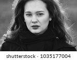 serious woman portrait | Shutterstock . vector #1035177004