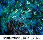 numerology world and clock | Shutterstock . vector #1035177268