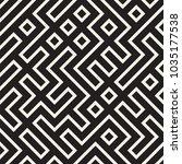 irregular maze line lattice.... | Shutterstock .eps vector #1035177538