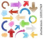hand drawn arrows | Shutterstock . vector #103517969
