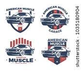 american muscle car repair and... | Shutterstock .eps vector #1035180904