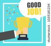 employee appreciation... | Shutterstock .eps vector #1035181234