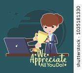 employee appreciation...   Shutterstock .eps vector #1035181330