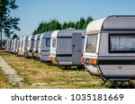 trailer park. summer tourist... | Shutterstock . vector #1035181669