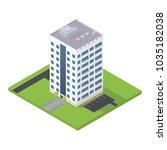 business big skyscraper... | Shutterstock .eps vector #1035182038