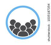 user groups icon | Shutterstock .eps vector #1035187354