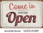 Retro Vintage Open Sign With...