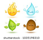 vector set icons four elements... | Shutterstock .eps vector #1035198310