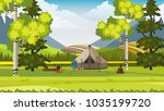 beautiful spring summer... | Shutterstock .eps vector #1035199720