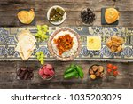 ifthar evening meal for ramadan  | Shutterstock . vector #1035203029