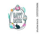 happy easter vector   Shutterstock .eps vector #1035203686