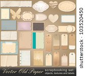 large scrapbooking set of old ... | Shutterstock . vector #103520450