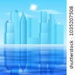 big city landscape with... | Shutterstock . vector #1035207508