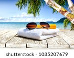 table background of free space... | Shutterstock . vector #1035207679