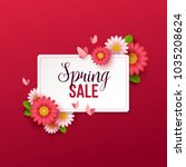 spring sale background with... | Shutterstock .eps vector #1035208624
