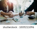 close up image of business... | Shutterstock . vector #1035211096