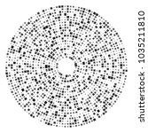 round vector random pattern... | Shutterstock .eps vector #1035211810
