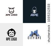 ape logo design | Shutterstock .eps vector #1035212533