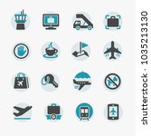 airport icons set | Shutterstock .eps vector #1035213130