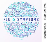 flu and symptoms concept in... | Shutterstock .eps vector #1035221698