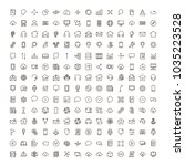 web icon set. collection of... | Shutterstock .eps vector #1035223528