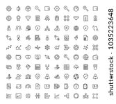 trade flat icon set. single... | Shutterstock .eps vector #1035223648
