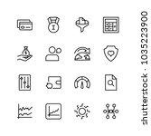 trade flat icon set. single... | Shutterstock .eps vector #1035223900