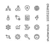 trade flat icon set. single... | Shutterstock .eps vector #1035223960