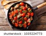 homemade roast beef in sauce... | Shutterstock . vector #1035224773