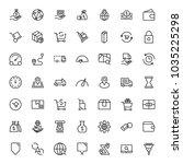 online market flat icon set.... | Shutterstock .eps vector #1035225298