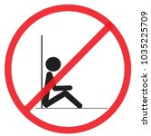 do not sit  here  not allowed... | Shutterstock .eps vector #1035225709
