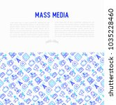 mass media concept with thin... | Shutterstock .eps vector #1035228460