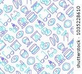 ophthalmologist seamless... | Shutterstock .eps vector #1035228610