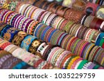 colorful traditional bolivian... | Shutterstock . vector #1035229759