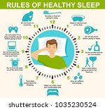 sleep infographic. rules of... | Shutterstock .eps vector #1035230524