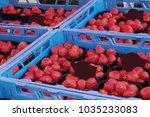 Lots Of Strawberries In Blue...
